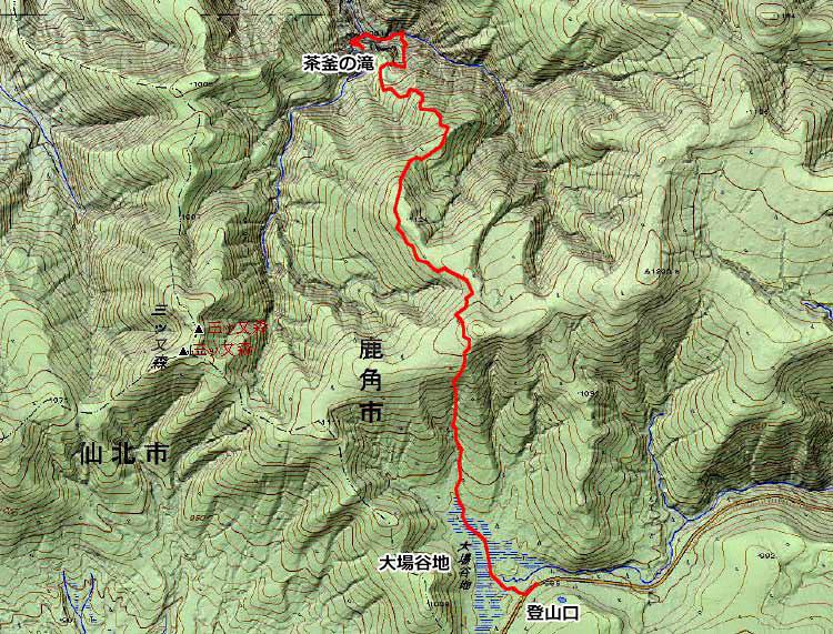 北東北山岳ガイド協会 茶釜の滝